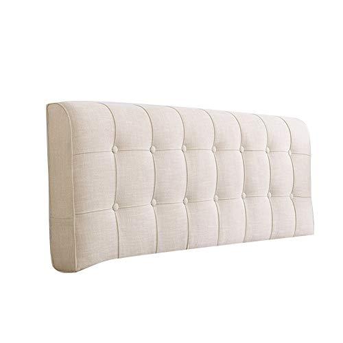 KD Bett-Rückenlehnenkissen Doppelwandkissen Rückenpolster Klett fest Keine Kopfteile Standard, 11 Farben, 6 Größen Home (Farbe : Beige, größe : 150x58x10CM) (Betten Kopfteile Für)
