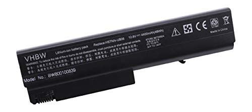 vhbw Akku passend für HP Compaq Business 6715b, 6715s, 6910p, NC6105 Laptop Notebook - (Li-Ion, 4400mAh, 10.8V, 47.52Wh, schwarz) -