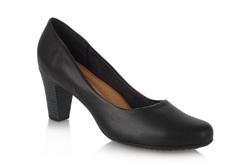 Piccadilly High Heel Court Shoe 130136 Black (39)