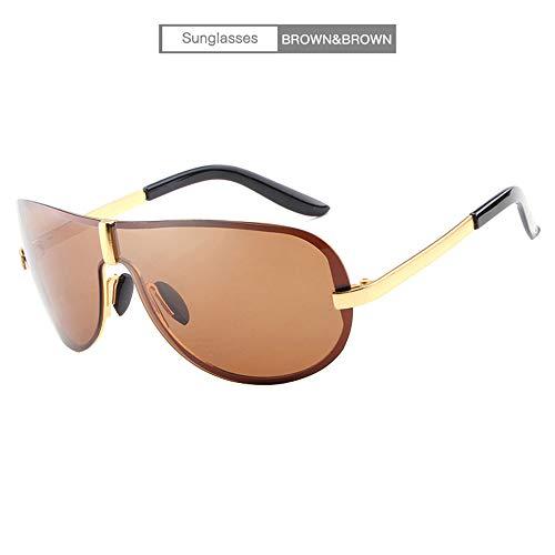 MIMI KING Herren Polarisierte Sonnenbrille mit Case UV400 Protection Ultraleichte modische Brille für Outdoor-Aktivitäten,Brown