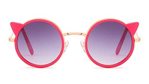 Aeici Sonnenbrille Kinder Polarisiert Metall + PC Katzenauge Sonnenbrillen Rot B Sonnenbrillen
