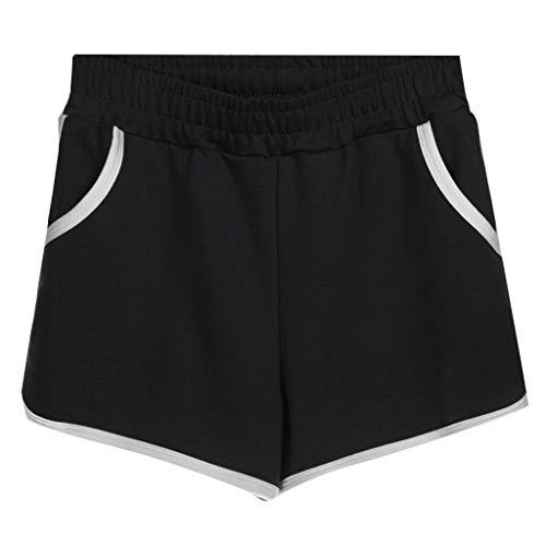 Retro Turnhose (Lonshell Damen Sport Shorts Retro Shorts Aktiv Yoga Shorts Hose High Waist Lässige Gemütlich Fitness Laufshorts Sweatpants Jogginghose Turnhose Tunnelzug Bermuda-Shorts)