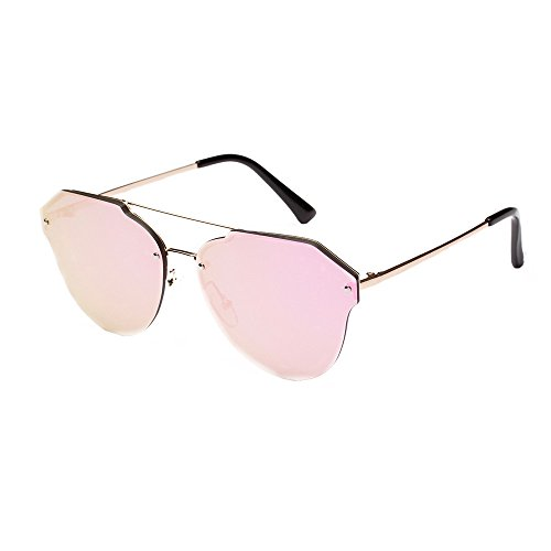 Oyedens B Mode Männer und Frauen Farbe reflektierende Sonnenbrillen - Mode männer frauen retro vintage metall rand rahmen uv brille sonnenbrille