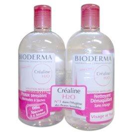 Bioderma Créaline H2O Solution Micellaire Lot de 2 x 500 ml