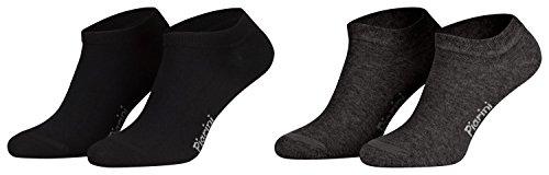 Piarini 39-42/8 Paar 8 Paar Sneaker Socken Sportsocken Baumwolle   Ohne Naht   Kurze Unisex Damen Herren schwarz-anthrazit