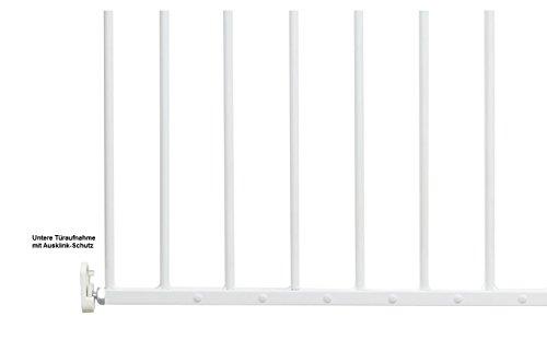 Impag Türschutzgitter Absperrgitter zum Schwenken 88 – 140 cm Astor Weiß - 4
