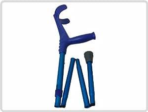Unterarmgehstütze Gehhilfe Krücke faltbar 1 Stück Leichtmetall Farbe: Blau *Top-Qualität zum Top-Preis*