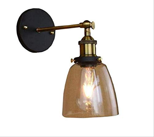 Amerikanische einfache Spray-Farbe bereifte Gang-Café-Bett-Kopf-einzelne Lampe