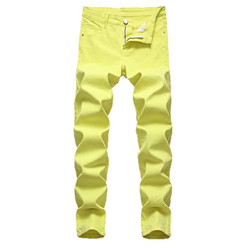 Malloom- Bekleidung Mode für Männer Casual Persönlichkeit Druck Slim Fit Denim Jeans Hosen Slim Bedruckte Jeanshose mit lässiger Persönlichkeit Hose Strand Schnalle karottenhosen beiläufige