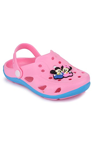 Phedarus Comfortable Clogs / Sandals for Girls - Pink (PH1702-PINK-31NW, 12)