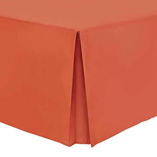 Mantovana copriletto in tinta unita, in 100% cotone percalle, Cotone egiziano, Orange, Singolo
