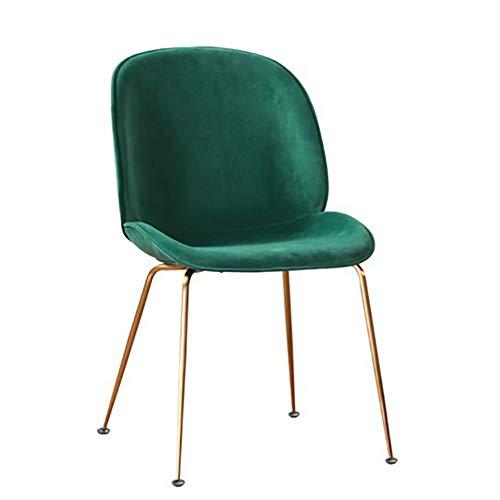 Esszimmerstühle YXX Gepolsterte Esstischstuhl Lounge-Lounge-Stühle für das Wohnzimmer im Büro, 330 £ Kapazität, Rutschfeste Füße (Farbe : Green, größe : Set of 6)