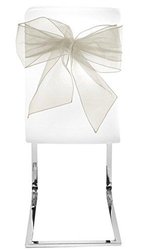 SANTEX 5191-25, Sachet de 4 NOEUDS de chaise en ORGANDI, ivoire