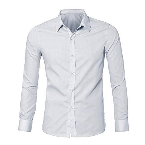 UJUNAOR Oktoberfest Junge Shirt Herren Luxus Langarm Stilvolle Hemden Slim Fit 2018(Weiß,CN (Herr Unglaubliche Kleinkind Halloween Kostüm)