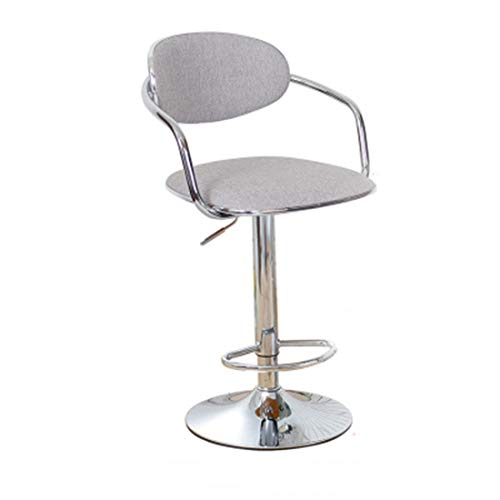 Barhocker, Hochstühle, Baumwollkissen und Rückenlehnen, Ringpedale, Home Bar Restaurant Cafe Club Stühle. (Color : D) -
