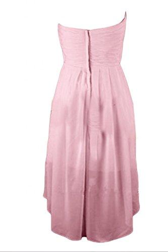 Victory bridal tendance hi-lo forme courte abendkleider tanzkleider sommerkleider brautjungfernkleider chiffon Rose - Rose
