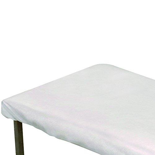 Betttuch für Krankenbett | Größe: 210 x 80 cm | wegwerfbar und sehr stark | Farbe: Weiß | 10 Einheiten