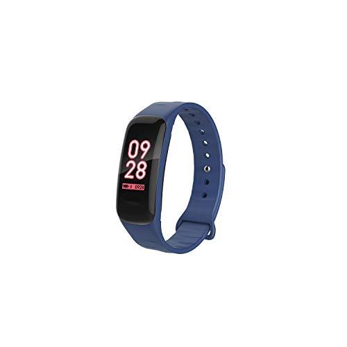 Smart Armband 3D Farbe Bildschirm Armband Sport Gesunde Herzfrequenz Wasserdicht Bluetooth Armband blau (Alten Blackberry Ladegerät)
