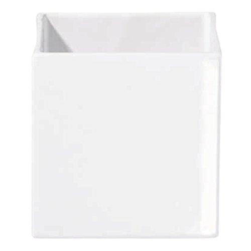 ASA Quadro Übertopf, Keramik, weiß, 15x15x15 cm