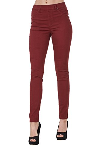 BHS Ladies Pull On Stretch Denim Look Womens Skinny Leggings Cotton Slim Jeggings