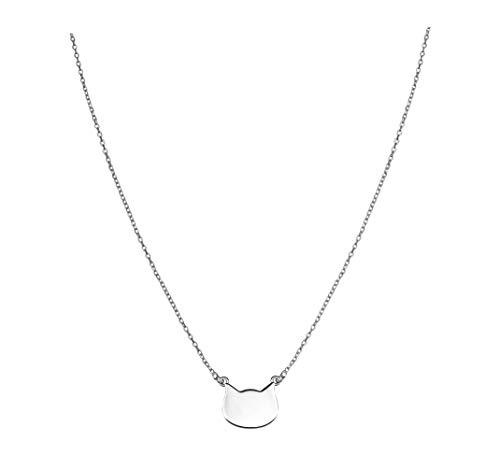 SOFIA MILANI Damen Halskette Katze Anhaenger Silber 50274