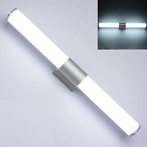 Moderne Metall-basis (12/16/22 W Weiche warme weiße Leuchte WC Ricklist Kabinett LED Licht Wand Metall Basis Moderne Frontspiegel Bad(25 cm 12 WattWeißes Licht))
