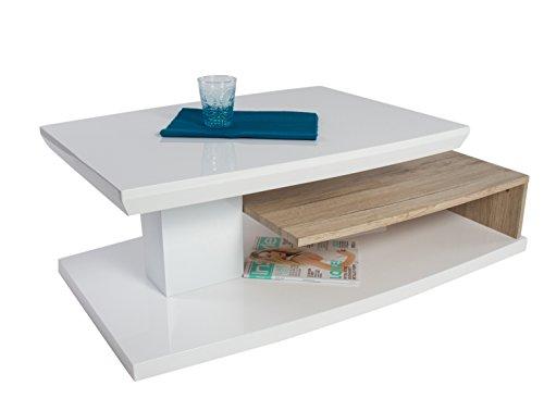 HL Design Corinne, Bois, Laqué Blanc Haute Brillance, 115 x 60 x 40 cm