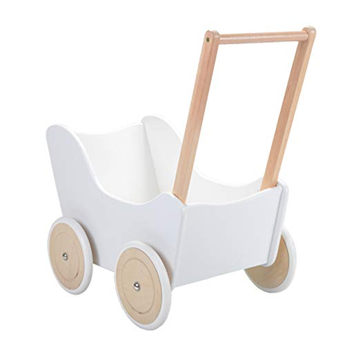 Bandits and Angels Classic Angel Weiß Holz-Puppenwagen