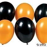 Confezione da 15 Palloncini in Lattice Assortiti Neri & Arancioni Decorazioni per Halloween