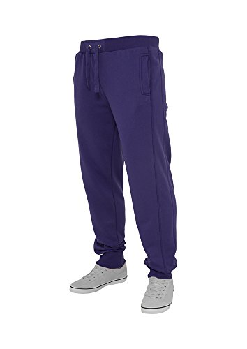 Urban Classics Herren Hose Straight Fit Sweatpants Purple