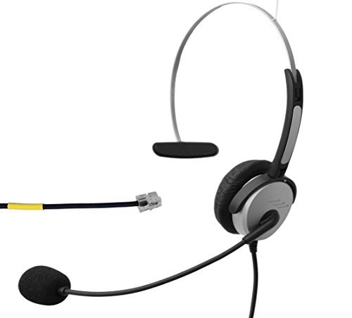 Voistek Corded Mono Monaural Call Center Telephone RJ Headset Noise Cancelling Headphone with Mic Comfort Fit for Avaya 1608 9611 Panasonic KX-T Yealink T20 Cisco 7902 Snom 300 IP Phones (H10DKXT)  available at amazon for Rs.4649