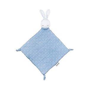 Nattou- Doudou con peluche conejito, Color azul (998277)