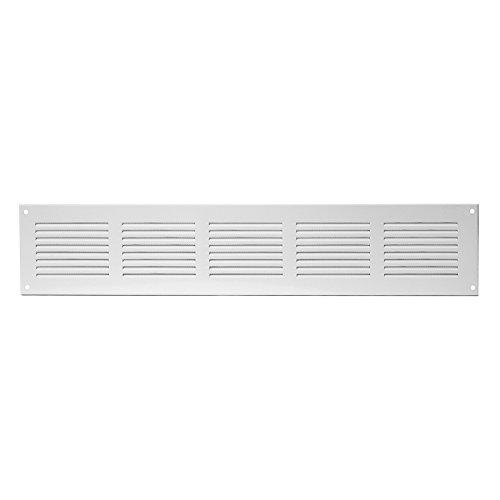 Lüftungsgitter - 500x150mm - Weiß - Abluftgitter - Wetterschutzgitter - mit Insektenschutz - aus...