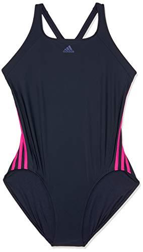 adidas Damen Infinitex Essence Core 3 Stripes 1 Piece Badeanzug, Legend Ink/Real Magenta, 34
