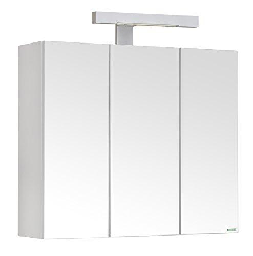 Alibert Spiegelschrank Piano - weißer Spiegelschrank