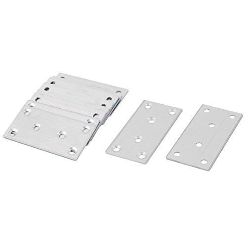 sourcingmap 10pcs Metall Möbel Ausrüstung Unterstützung Korne Winkel Halter Eben Platte Silber (Ebene Berg Berg Ebene)