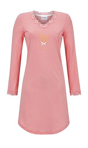 Ringella Lingerie Damen Nachthemd mit Spitze Melone 46 8561005, Melone, 46