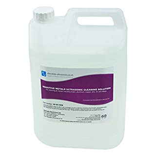 Sensitive Metals Ultrasonic Cleaner Solution Ideal for Brass, Copper, Aluminium - 5 Litre Cleaning Fluid