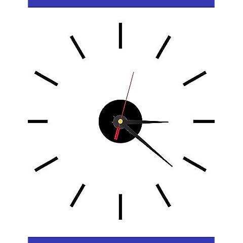 Da Wu Jia wall arte Roma Numero parete quadrata in cristallo acrilico orologio Mirror TV parete di sfondo orologio orologio quattro camere da letto , nero