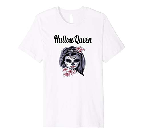 en Lover T-Shirt Flower Skull (Candy Skull Dress Up)