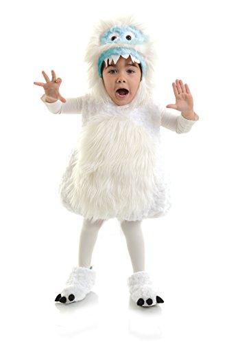 Yeti Kinderkostüm - 92-104cm (Fuzzy Monster Kostüm)