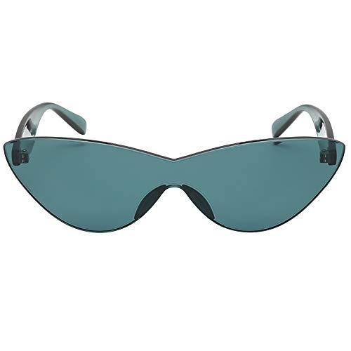 (Honestyi Frauen Mann Mode Vintage Solid Color Sonnenbrillen Eyewear Retro Unisex S8059 Katzenaugen transparent einfarbig)