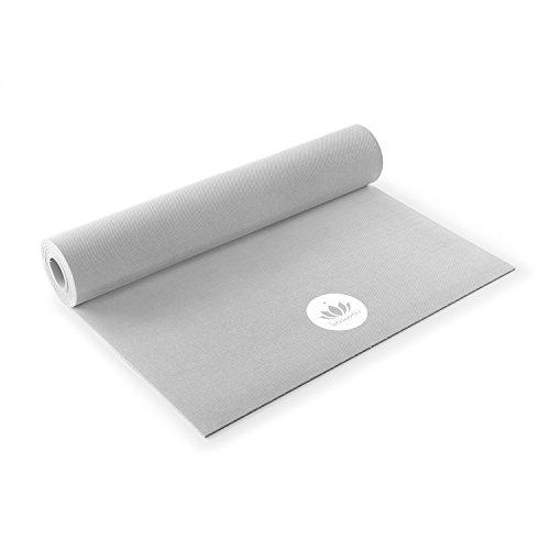 Lotuscrafts Naturkautschuk Yogamatte Oeko - Rutschfest - 100% natürlich & ökologisch - Profi Matte für Yoga & Pilates - ideal für dynamische Yogastile [180 x 61 x 0,4 cm] -