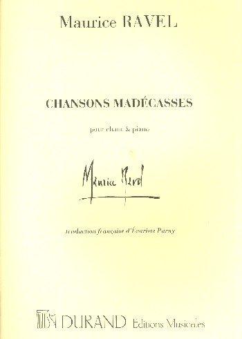 Chansons Madécasses - Cht/Po