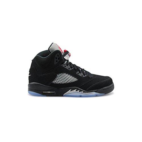 nike-air-jordan-5-retro-og-bg-espadrilles-de-basket-ball-homme-noir-noir-noir-rouge-feu-metallic-sil