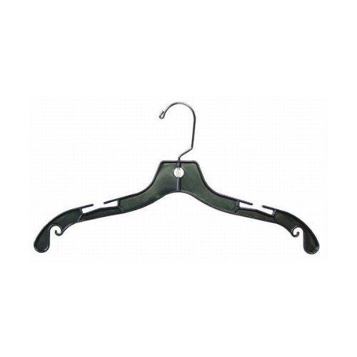 Only cintres 43,2 cm Plastique Noir Medium Poids cintres pour Robe, Chemisier et Manteau Lot de 100