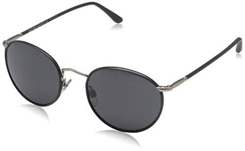 Armani Herren 0AR8093 55964K 47 Sonnenbrille, Bi-Colour Black/Striped Brown/Greymirrorlilac
