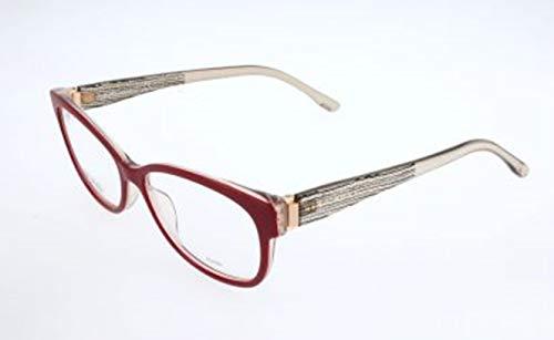BOSS Hugo Damen Brille Brillengestelle, Rot, 54