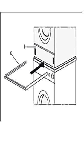 Zwischenboden Stapel Rahmen Waschmaschine Trockner Gestell Verbindungssatz - Stapel Waschmaschine Und Trockner