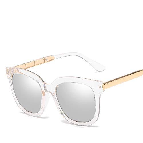 GJYANJING Sonnenbrille Trendy Vintage Sonnenbrille Frauen Männer Uv400 Schwarz Spiegelbeschichtung Sonnenbrille Retro Hipster Brille
